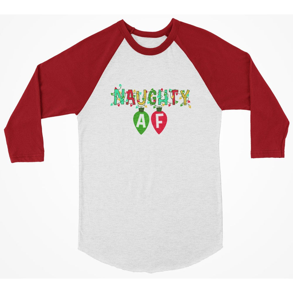 Naught AF 3/4 Sleeve Christmas Shirt