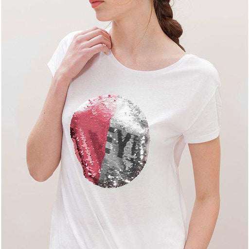 Custom Sequin Women T-Shirts (Circle)