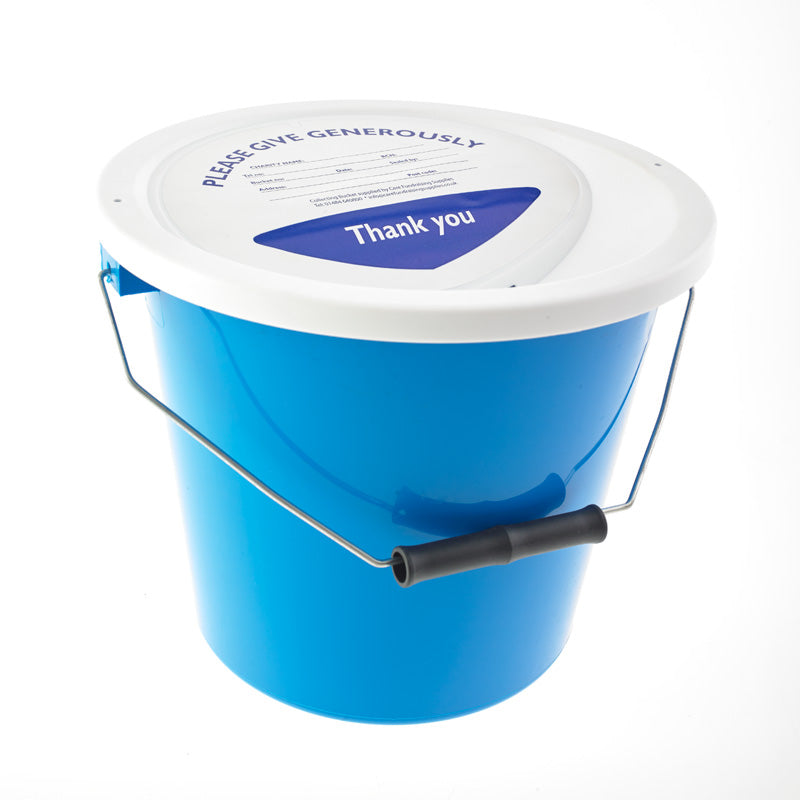(Charity Only) Light Blue / Azure Collection Bucket & Lid