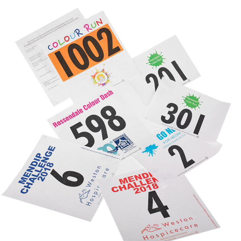 running numbers tyvek