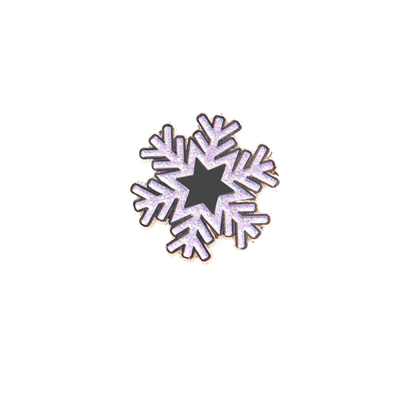 White Snowflake Light up a Life Badge