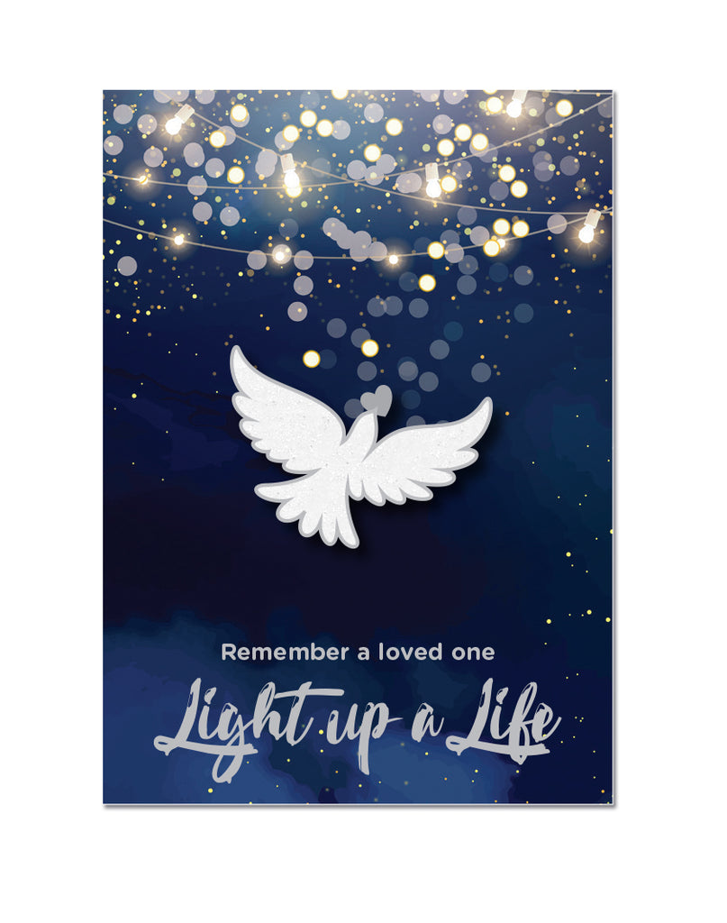 (Charity Only) Light Up A Life Dove Badge - Silver