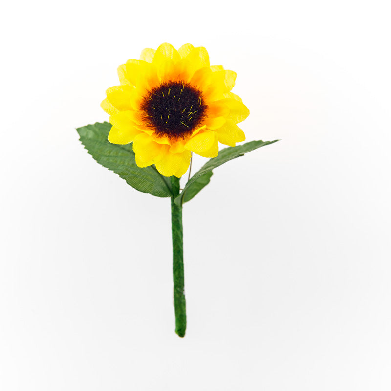 Sunflower on a stem with pin, ideal for hospice charity fundraising