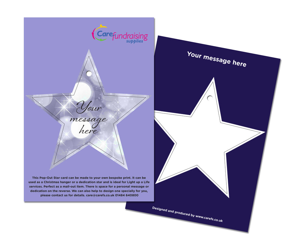 Pop-Out Dedication Star