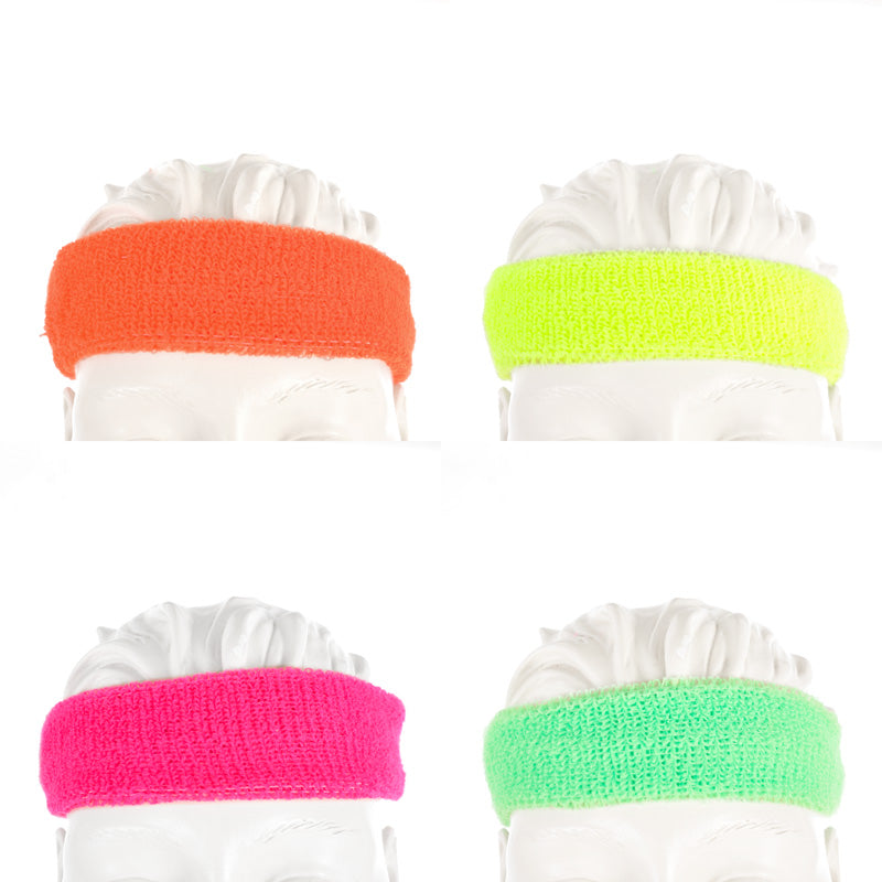 neon stretchy headbands set