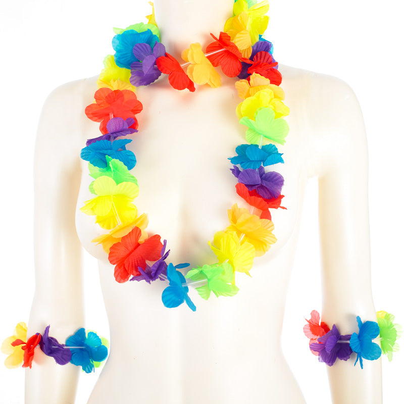 multi colour lei set