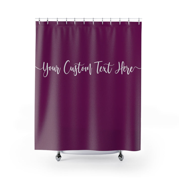 Your Custom Text Shower Curtains Personalized Curtain