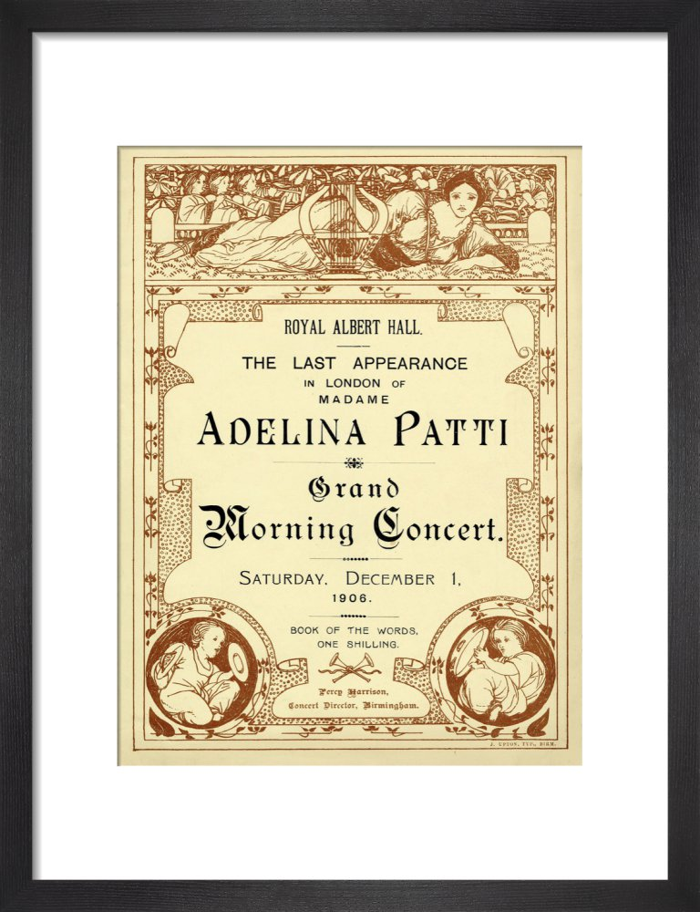 The Last Appearance in London of Adelina Patti - 1906 - Royal Albert Hall