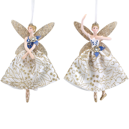 White / Gold / Blue Fairy Decoration