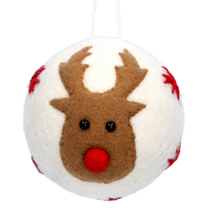 Reindeer Christmas Bauble