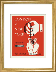 Programme for London v New York - London Amateur Boxing Association, 15 October 1959 - Royal Albert Hall