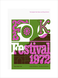 Programme for Folk Festival , 18-19 February 1972 - Royal Albert Hall