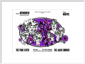 Programme for Jimi Hendrix Experience, The Move, The Pink Floyd, The Amen Corner and The Nice, 14 November 1967 - Royal Albert Hall