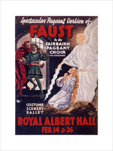 Programme for Gounod's 'Faust', 14-26 February 1938 - Royal Albert Hall