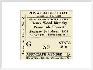 Henry Wood Concert Society - Henry Wood Birthday Promenade Concert, 3 March 1951