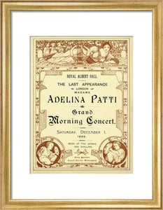 Programme from The Last Appearance in London of Adelina Patti - Grand Morning Concert, 1 December 1906 - Royal Albert Hall