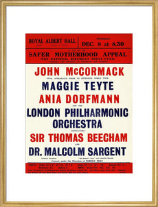 Handbill for a Grand Concert, in aid of the Safer Motherhood Appeal (The National Birthday Trust Fund), 8 December 1932 - Royal Albert Hall