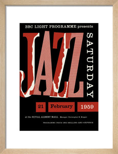 Programme for Jazz Saturday - New Orleans To Dixieland, 21 February 1959 - Royal Albert Hall