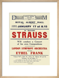 Handbill from Dr. Richard Strauss Concert, 17 January 1922 - Royal Albert Hall