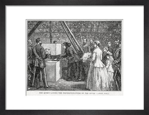 Queen Victoria laying the Hall's Foundation Stone