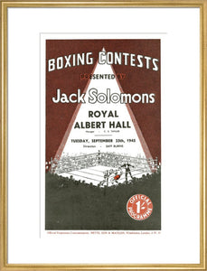 Programme for Boxing Contests, 25 September 1945 - Royal Albert Hall