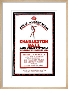 Programme for Charleston Ball and Competition, 15 December 1926 - Royal Albert Hall