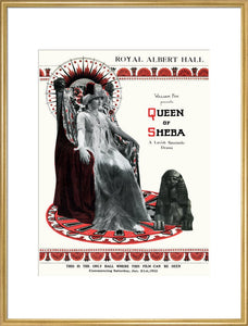 Programme for William Fox Presents 'Queen of Sheba' - A Lavish Spectacle-Drama, 21-27 January 1922 - Royal Albert Hall