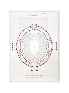 Architectural plans of the Royal Albert Hall