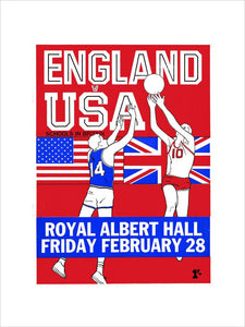 Programme for English Schools Basketball Tournament - England v. USA, 28 February 1969 - Royal Albert Hall