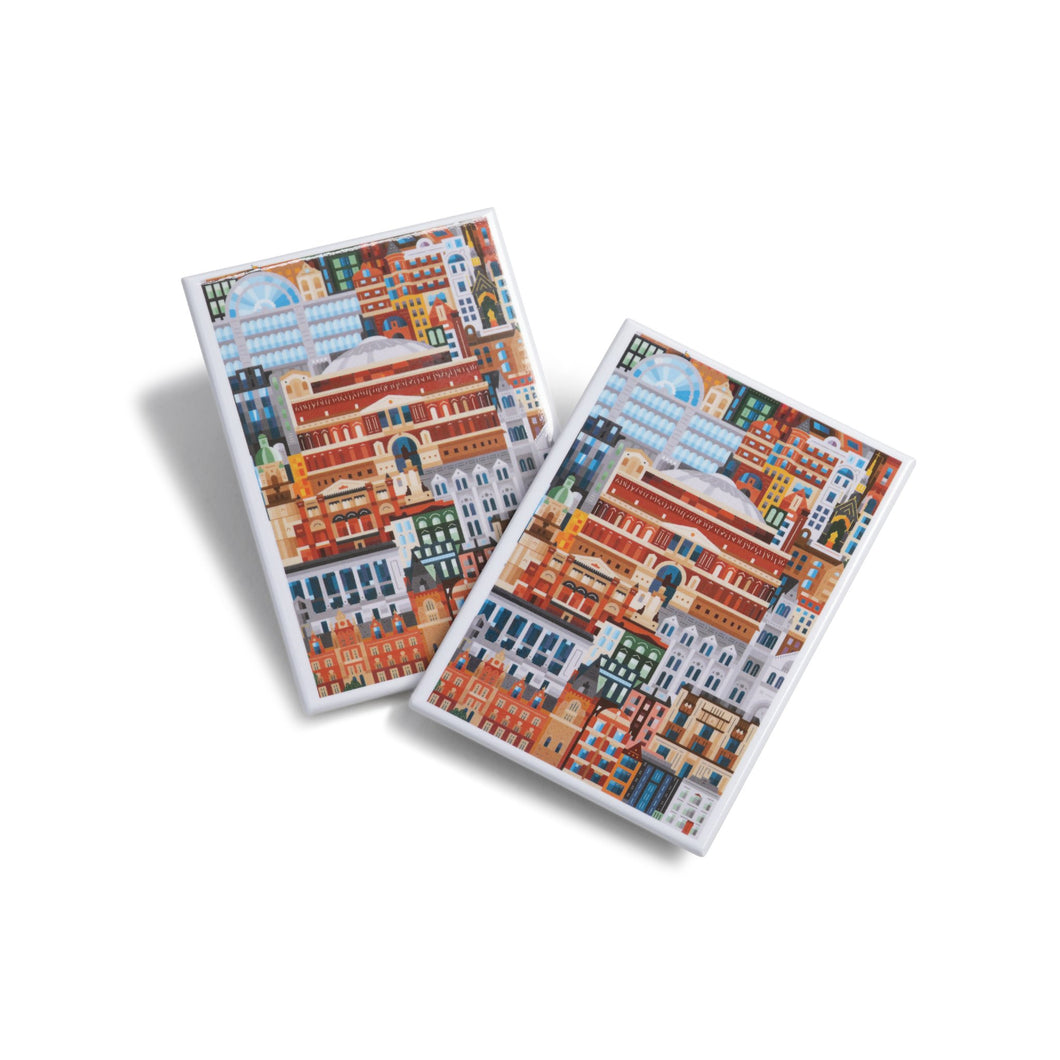 Albertopolis Block Print Magnet - Royal Albert Hall