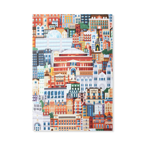 Albertopolis Block Print Tea Towel - Royal Albert Hall