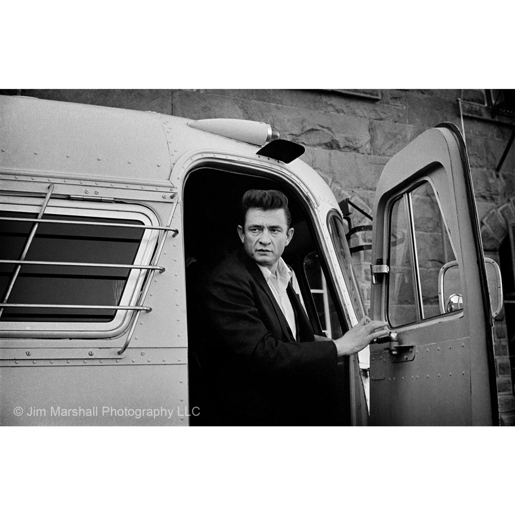 Jim Marshall  - Johnny Cash coming off the bus at Folsom Prison, 1968 - Royal Albert Hall