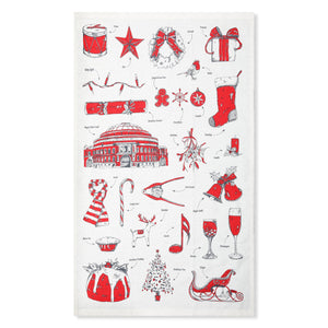Christmas Tea Towel - Royal Albert Hall