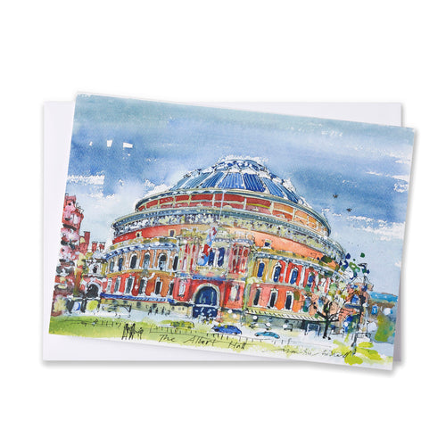 Watercolour Greetings Card - Royal Albert Hall
