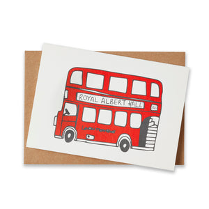 Simply London Bus Greeting Card - Royal Albert Hall