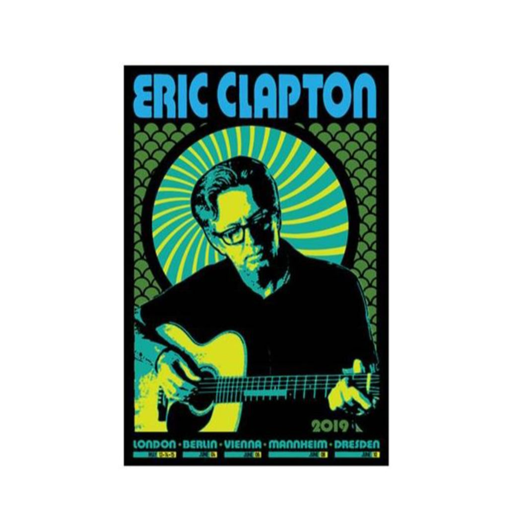 Eric Clapton 2019 Limited Edition Tour Poster