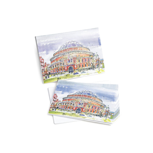 Watercolour Notecard Wallet (Pack Of 10) - Royal Albert Hall