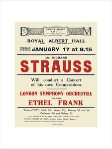 Dr. Richard Strauss Concert - 1922