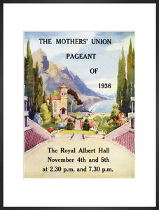 Programme for Mothers' Union Pageant of 1936, 4-5 November 1936 - Royal Albert Hall
