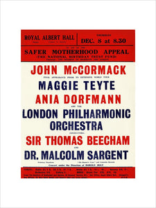 London Philharmonic Orchestra with Malcolm Sargent and Sir Thomas Beecham - 1932 - Royal Albert Hall