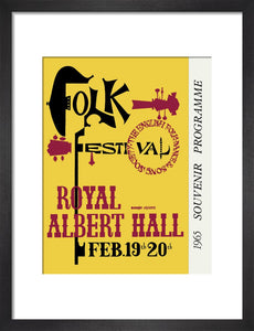 Programme for Folk Festival 1965, 19-20 February 1965 - Royal Albert Hall