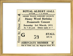 Henry Wood Birthday Promenade Concert - 1951