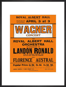 Handbill for Special Sunday Concerts (1920-1921 Season) - Wagner Concert, 3 April 1921 - Royal Albert Hall