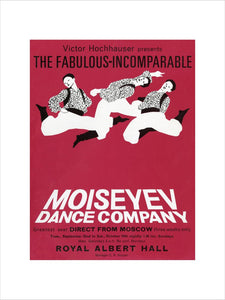Handbill from Moiseyev Dance Company, 22 September - 10 October 1964 - Royal Albert Hall