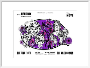 Programme for Jimi Hendrix Experience, The Move, The Pink Floyd, The Amen Corner and The Nice, 14 November 1967