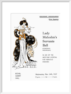 Programme for Lady Malcolm's Servants' Ball (Fourteenth Anniversary), in aid of The West End Hospital for Nervous Diseases, 24 November 1937 - Royal Albert Hall