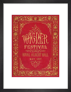 Programme cover for the Wagner Festival, held at the Royal Albert Hall, 7-29 May 1877