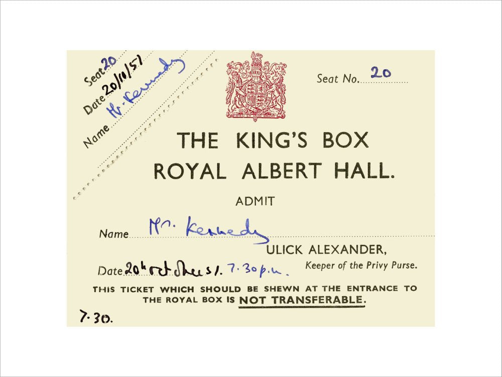 Ticket from a concert featuring Pouishnoff, George Weldon and the London Philharmonic Orchestra, 20 October 1957 - Royal Albert Hall
