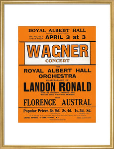 Handbill for Special Sunday Concerts (1920-1921 Season) - Wagner Concert, 3 April 1921