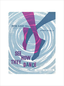Programme for See How They Dance - Annual Festival of The Society for International Folk Dancing, 6 December 1958 - Royal Albert Hall